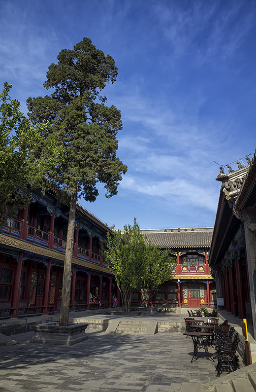 Courtyard at Prince Gong's Mansion, Xicheng, Beijing, China.